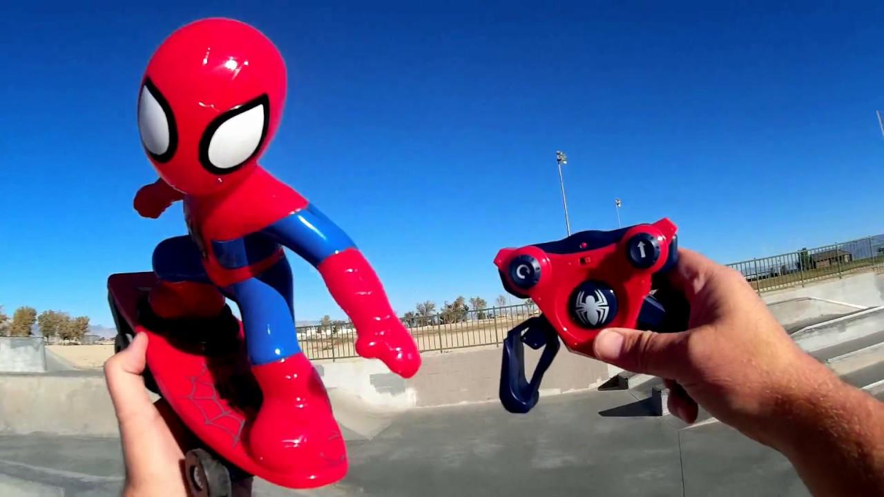 Spiderman Talking RC Skateboarder Skate Test Review - YouTube