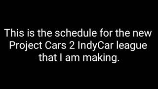 Let's Go Green IndyCar Series Season 1 Schedule