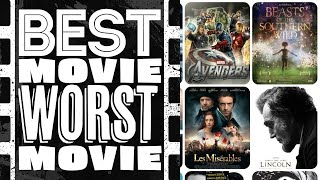 Best Movie Worst Movie - The Movies Of 2012 (Season 1: Episode 03)