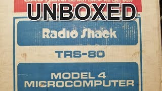Is that smoke? Radio Shack TRS-80 Model 4 Computer Unboxing and Test