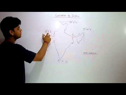 gk trick for memorising location of india (geography of india)