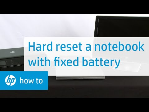 How to Hard or Force Reset a Fixed Battery HP Notebook | HP Notebooks | HP