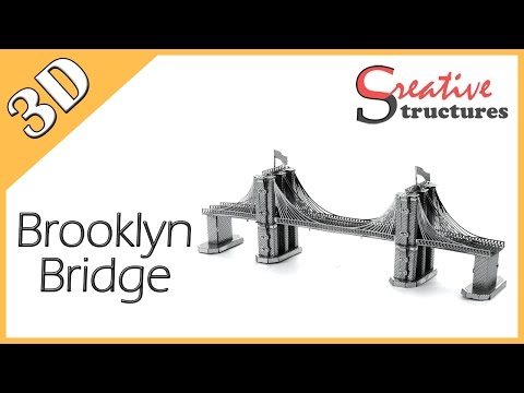 3D metal model & puzzle - Brooklyn Bridge (United States Architecture)