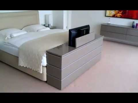 Exodio montpellier tv lift meuble youtube for Meuble de chambre lit