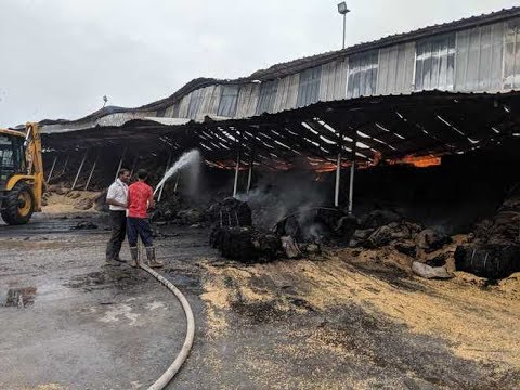 Fire Breaks Out At Shed In Ambala's Grain Market