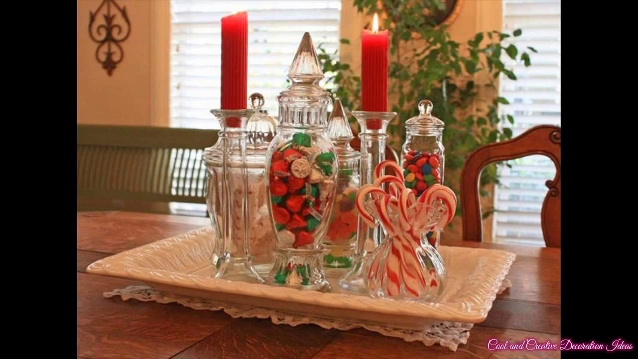 Simple diy christmas table decorations ideas youtube Diy christmas table decorations