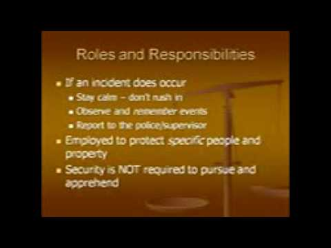 Responsibilities Of A Security Officer