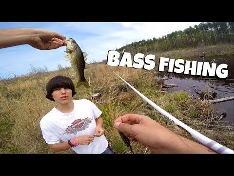 bass-fishing-our-secret-pond!