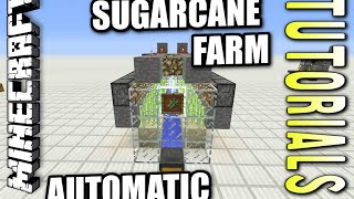 Minecraft PS4 - AUTOMATIC SUGARCANE FARM - How To - Tutorial ( PS3 / XBOX ) WII