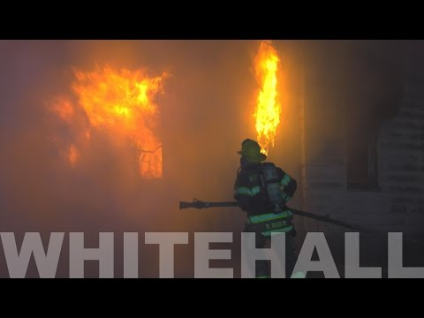 PRE-ARRIVAL:  Heavy fire showing on arrival in Whitehall, PA