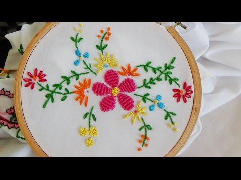 Hand Embroidery: Flower Stitch (Bullion Lazy, French Knot...)