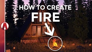 how to create realistic fire vray 36 for sketchup