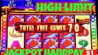 ** 70 FREE SPINS ** BIG JACKPOT HANDPAY MONEY BLAST HIGH LIMIT SLOT MACHINE BONUS SLOTS