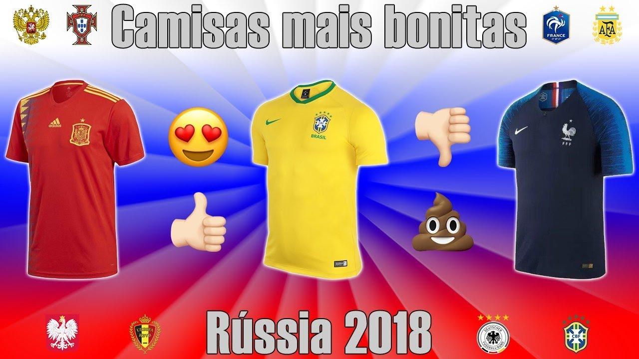Top 5 - Camisas mais bonitas da Copa da Rússia 2018 - YouTube 73e1cb6e78775
