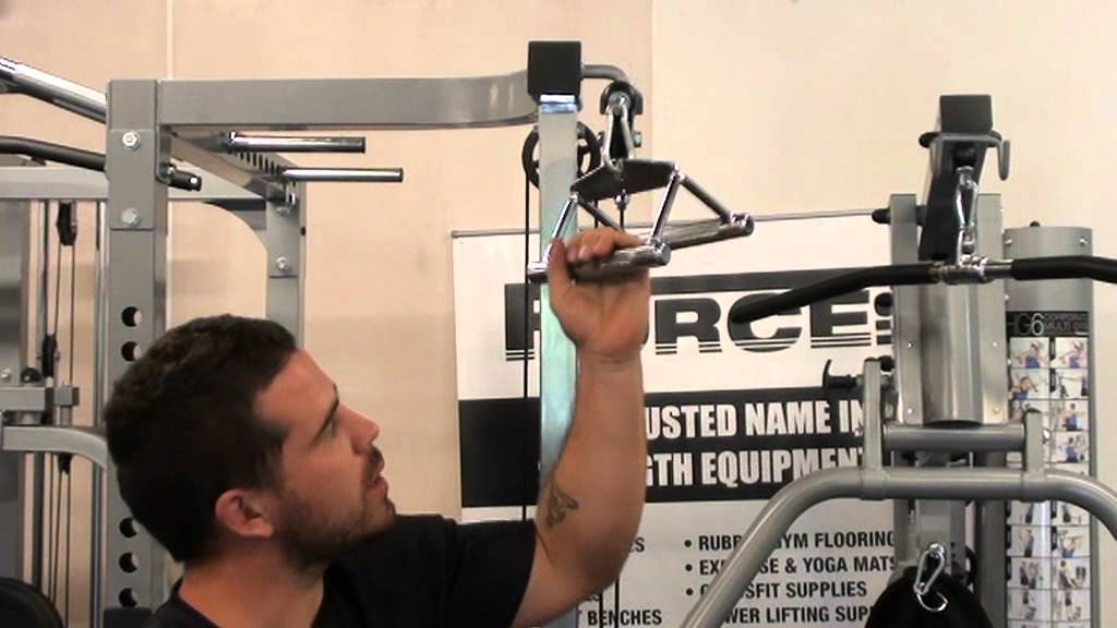Image result for TRIANGLE ATTACHMENT CLOSE GRIP LAT PULLDOWN