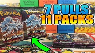 7 PULLS 11 PACKS! Opening 11 Pokemon Guardians Rising Booster Packs of Pokemon Cards