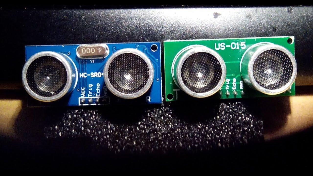 Cl for HC-SR04 or US-015 ultrasonics sensors - YouTube