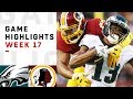 Download Eagles vs. Redskins Week 17 Highlights | NFL 2018