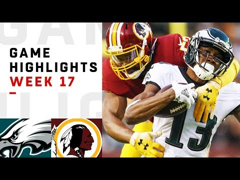Eagles vs. Redskins Week 17 Highlights | NFL 2018