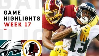 Eagles vs. Redskins Week 17 Highlights