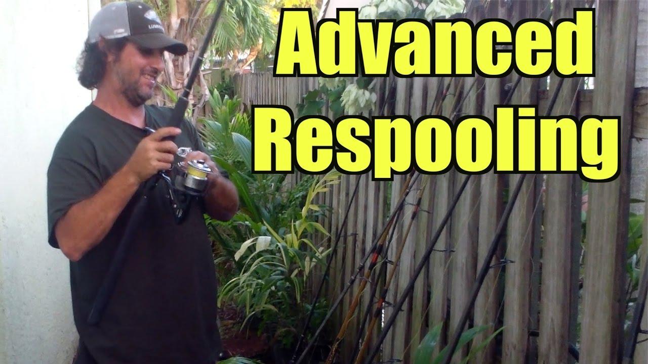 Fishing Tip Advanced Respooling Braid to Mono - Lunkerdog