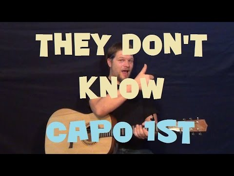 They Don't Know (Rico Love) Easy Strum Guitar Lesson How to Play Tutorial Capo 1st Fret