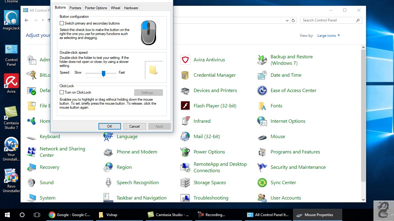 How to hide the mouse pointer (cursor) while typing in windows 10