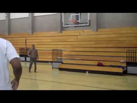 Craig Hodges and High School Coach shooting 3
