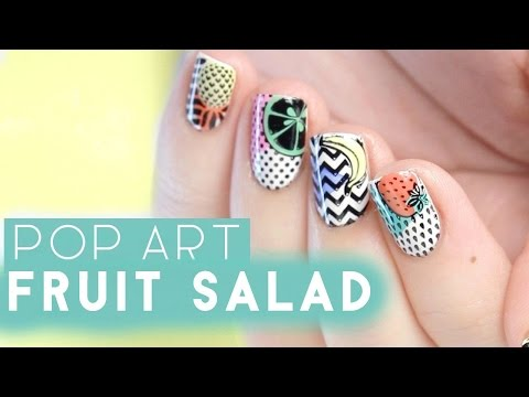 Pop Art Fruit Nail Art | MoYou London Demo