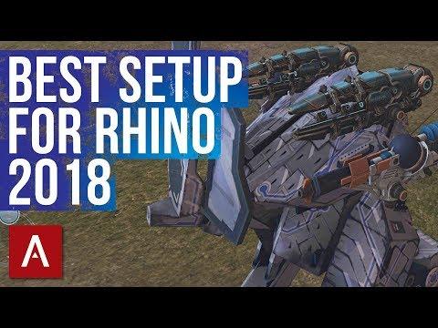 War Robots BEST SETUP for Rhino 2018 | This Rhino Build Kills Spectre Shocktrain!