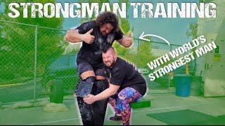 STRONGMAN EVENT TRAINING W/ ROB KEARNEY & MARTINS LICIS