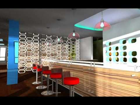 interior design ATTI CREATIVE Club & Coffe bar - YouTube