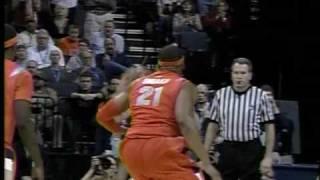 Blake Griffin hits head on backboard  vs. Syracuse NCAA Tournament 03.27.09 thumbnail