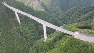 【4K空撮】八百津新旅足橋 バンジージャンプ