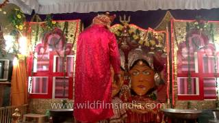Priest performing rituals at Naina Devi Temple - Nainital