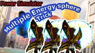 Power Simulator - How to shoot multiple energy sphere in a row -Roblox