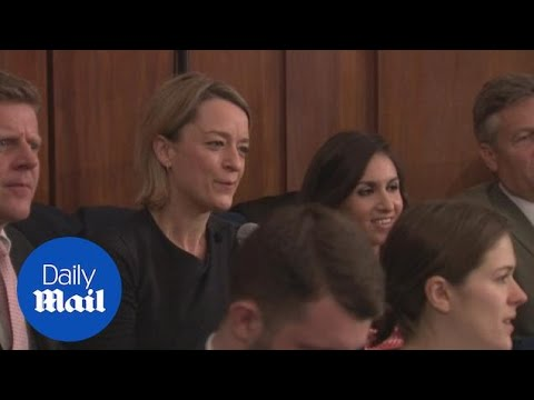 BBC political editor Laura Kuenssberg hissed by Corbyn supporters - Daily Mail