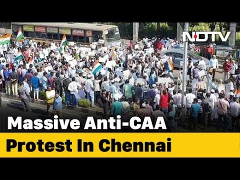 Thousands Of Muslims March In Chennai Against Citizenship Law