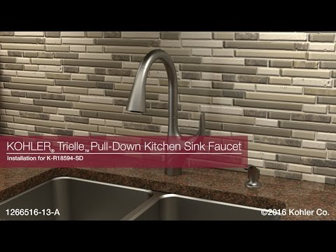 Installation - Trielle Pull-Down Kitchen Sink Faucet - YouTube