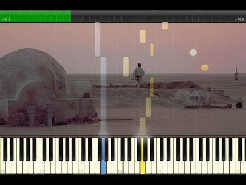 Star Wars - The Force Theme - Binary Sunset synthesia
