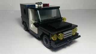 сборка полицейского джипа из Лего.Instruction Lego police interceptor