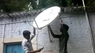 videocon d2h dvr installation by ashirwad elec