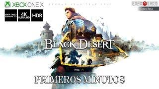 [4K] Black Desert Online BETA jugado en Xbox One X, primeros minutos |MondoXbox