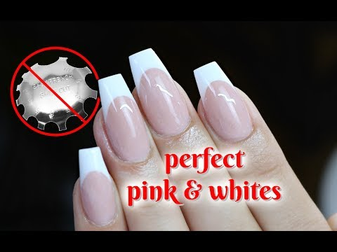 BEST PINK AND WHITE NAIL VIDEO WITH NO SMILE LINE CUTTERS!!