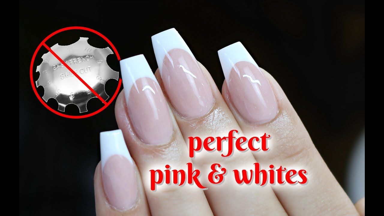 Best Pink And White Nail Video With No Smile Line Cutters
