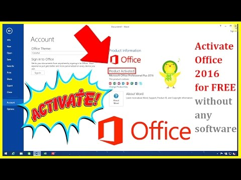 Easy trick Activate Microsoft Office  2010/2013/2016 Pro in 1 MINUTE