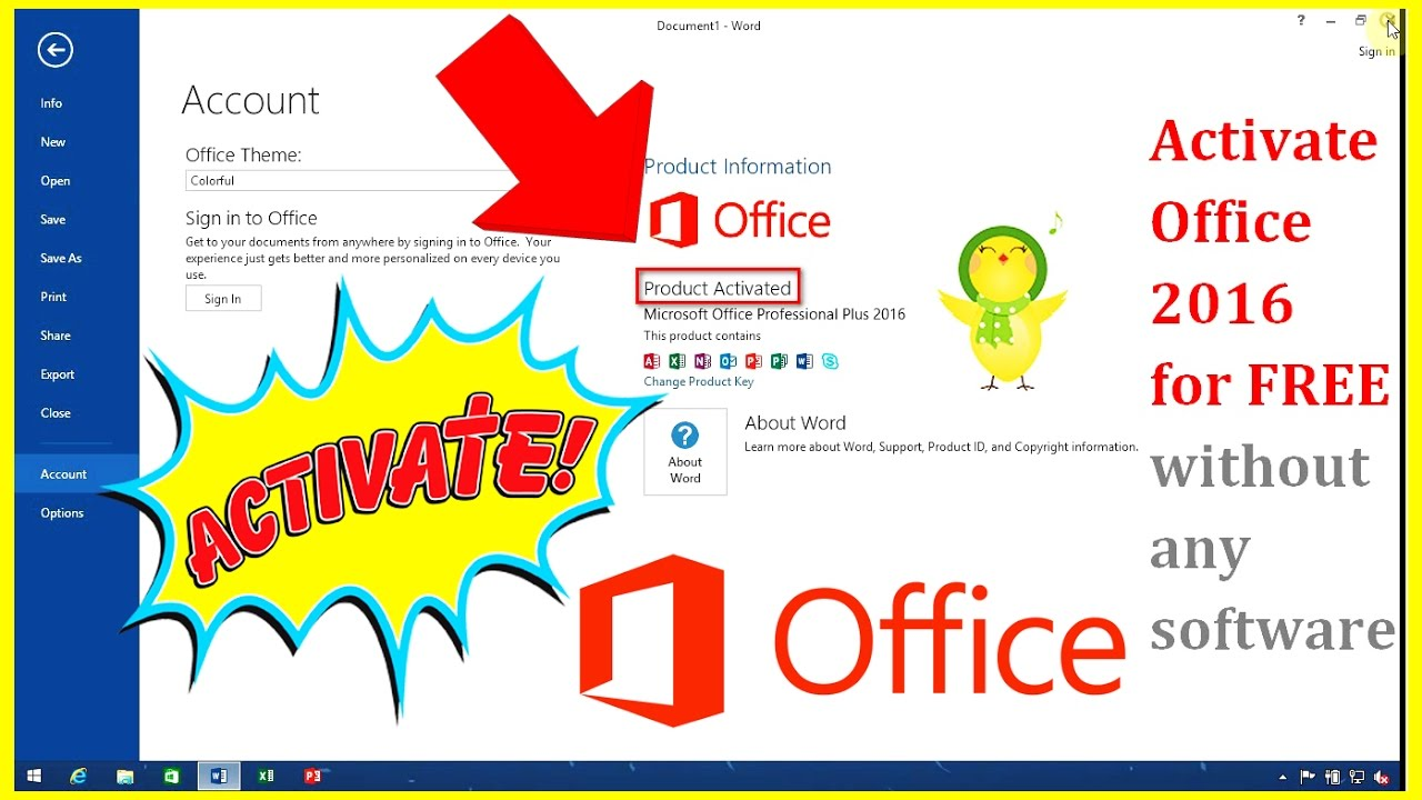 activate microsoft office programs free