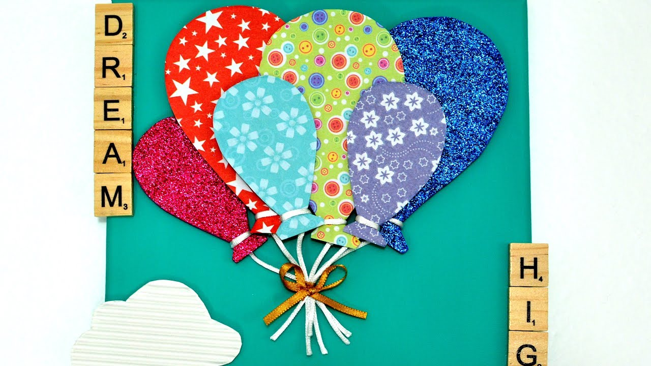 3d balloon canvas diy art craft how to make it room decor