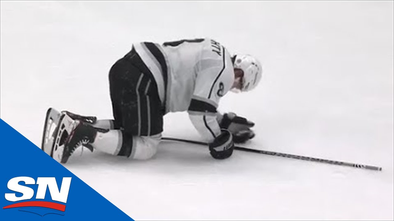 Download Jani Hakanpaa Ejected After Injuring Drew Doughty In Knee-On-Knee Collision
