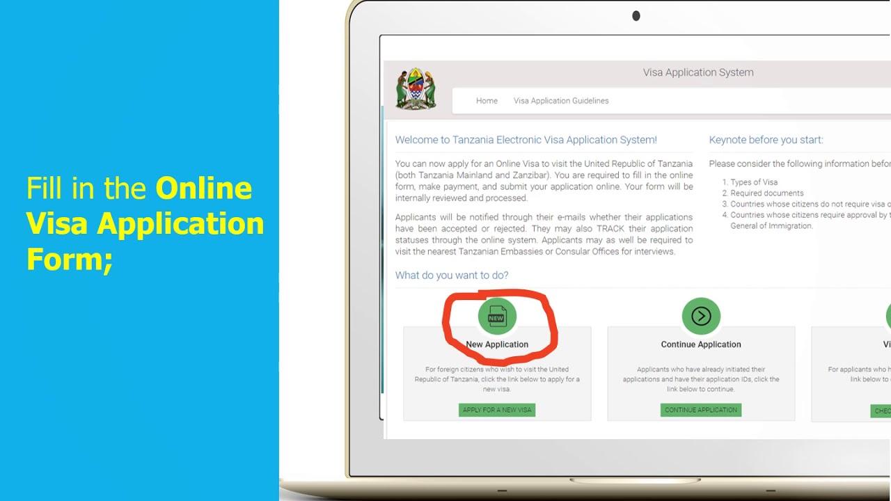 Procedure For Tanzania Online Visa Application Youtube
